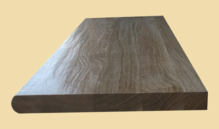 Superior Prefinished White Oak Hand Scraped Wood Stair Tread