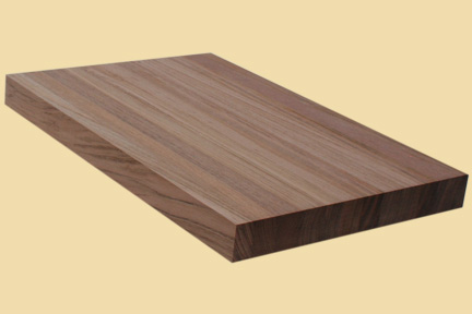 Brazilian Cherry Butcher Block Style Stair Tread
