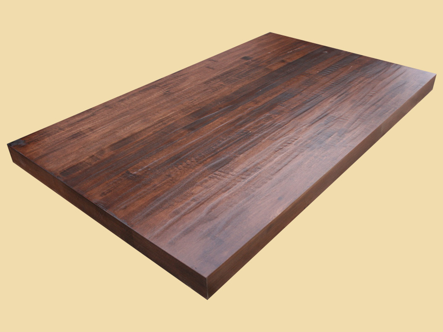 hand scraped chocolate maple butcher block quote and. Black Bedroom Furniture Sets. Home Design Ideas