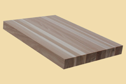 Hickory Butcher Block Style Stair Tread