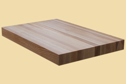 custom size ash butcher block prefinished quote and