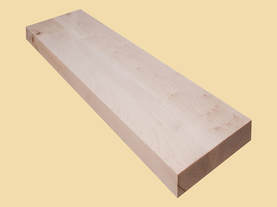 Custom Size Hard Maple Extra Thick Stair Tread