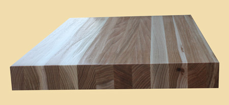 Hand Scraped Stair Tread Butcher Block Style Hickory