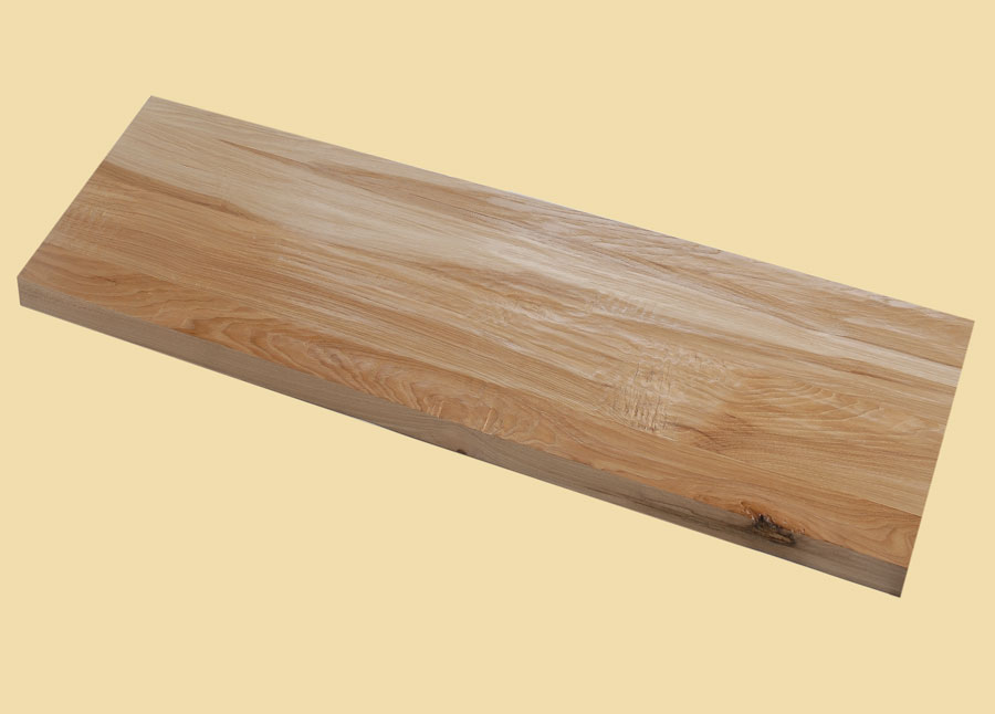Hickory Hand Scraped Extra Thick Stair Tread   Prefinished