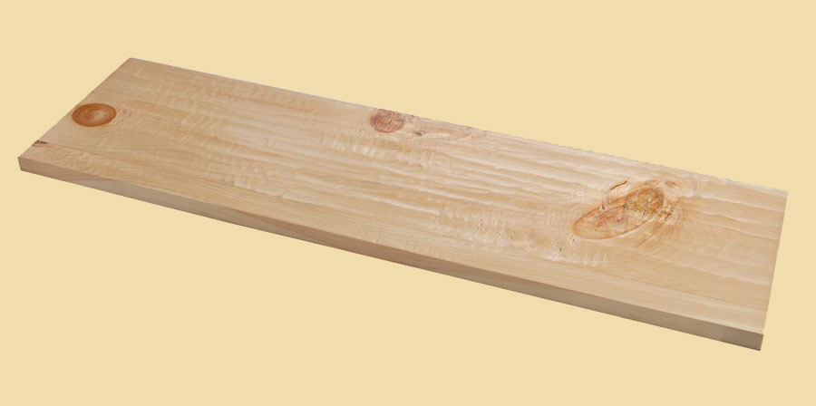 Knotty Pine Hand Scraped Full Thickness Stair Tread