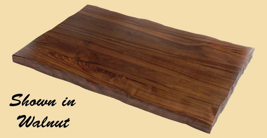 Hickory Rustic Edge Countertop