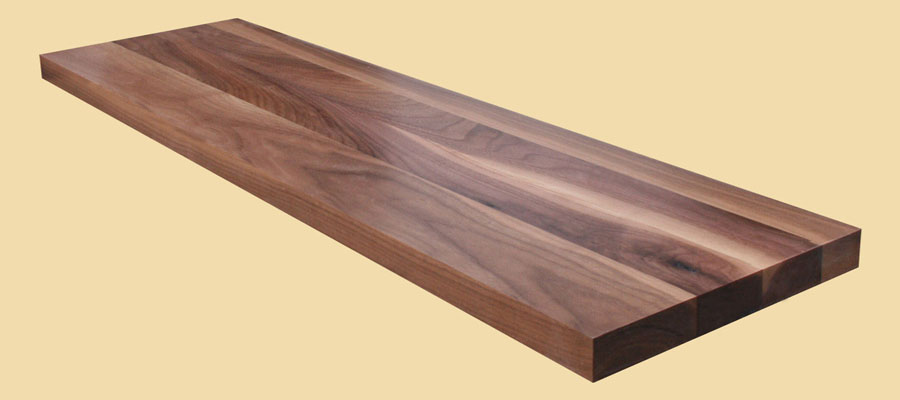 Walnut Wide Plank Countertops Country